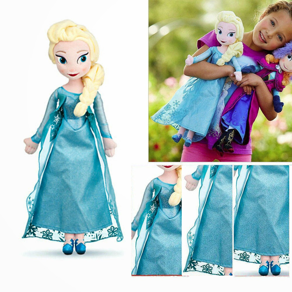 """20"""" Lovely Frozen Princess Elsa Classic Collector Plush Stuffed Toy Doll PB27"""