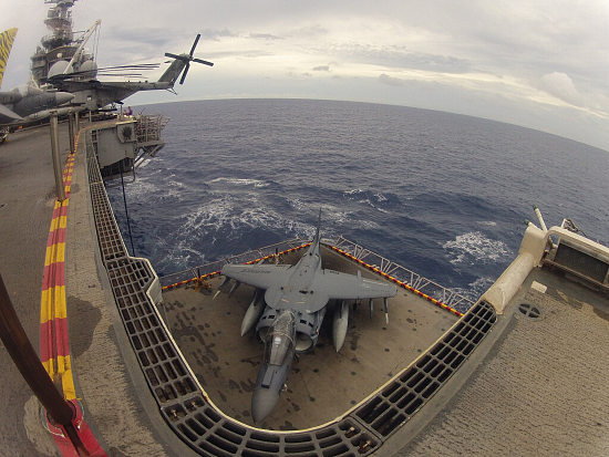 "Aboard Tyler's ""home"" in the Pacific somewhere.Awesome photo!"