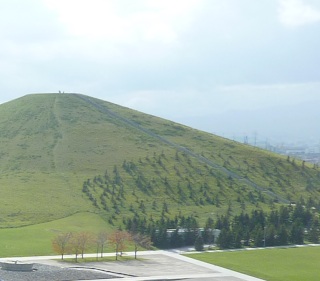 Mount Moere as seen from Play Mountain at Moerenuma Koen (Moerenuma Park), Sapporo