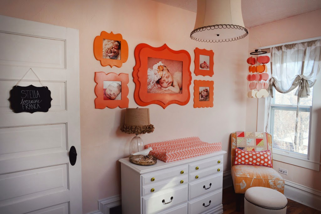 Pink, Orange and Coral Nursery