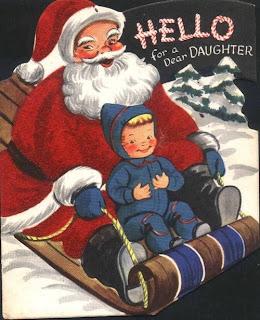 Santa Claus hello for a dear duaghter