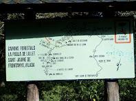 Rètol dels Camins Forestals de la Pobla de Lillet