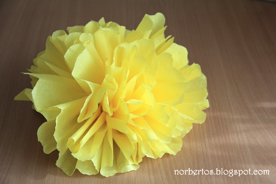 How to make tissue paper flower beautiful craft