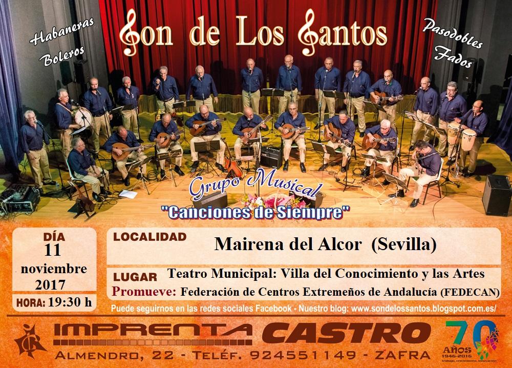Concierto en el Teatro Municipal de Mairena del Alcor (Sevilla)  11/11/2017