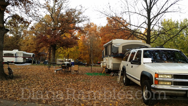 camping pop-up trailer camper campground