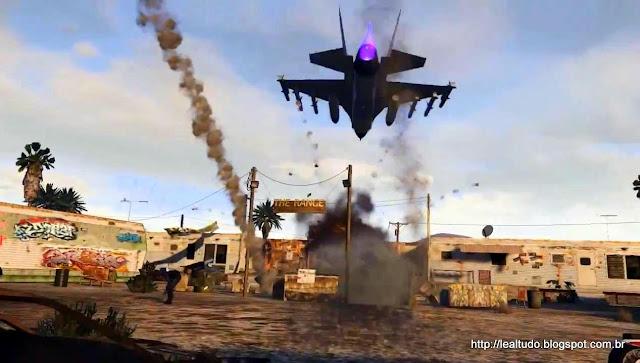 Grand Theft Auto Online Jets Bombs Explosions - Jato Explosao Bomba Missao