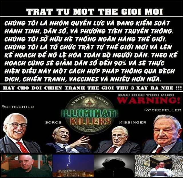 Nhóm quyền lực liên hệ với Tên Phản Ki tô cùng với Tiên tri giả đang kiểm soát thế giới