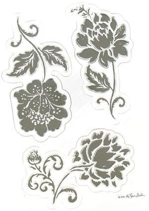 Ornate Flowers CS068 Clear Stamps the Paper Studio