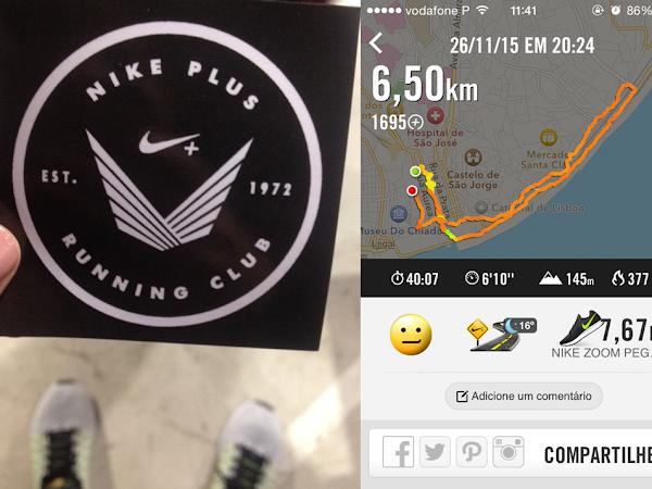Experiência com a Nike+ Run Club Lisboa