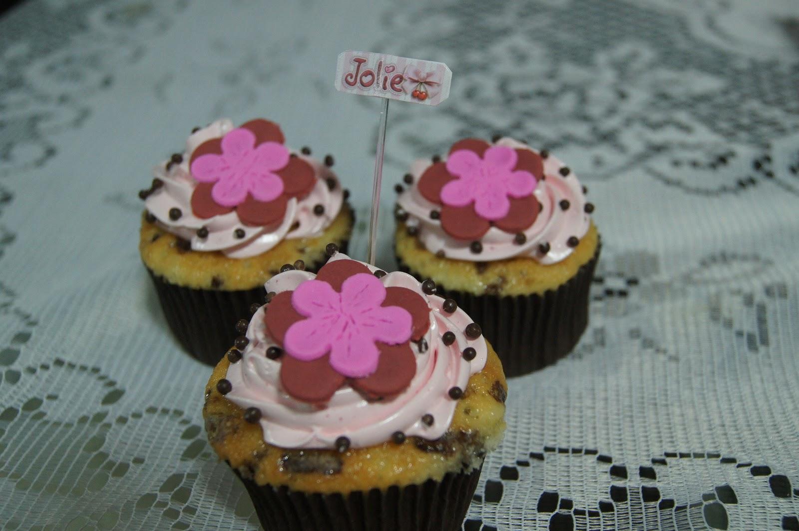 Amai cupcakes goi nia anivers rio jolie marron rosa e - Jolie cupcake ...