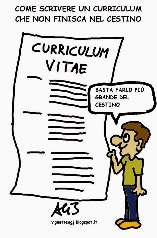 Curriculum, lavoro, vignetta , umorismo