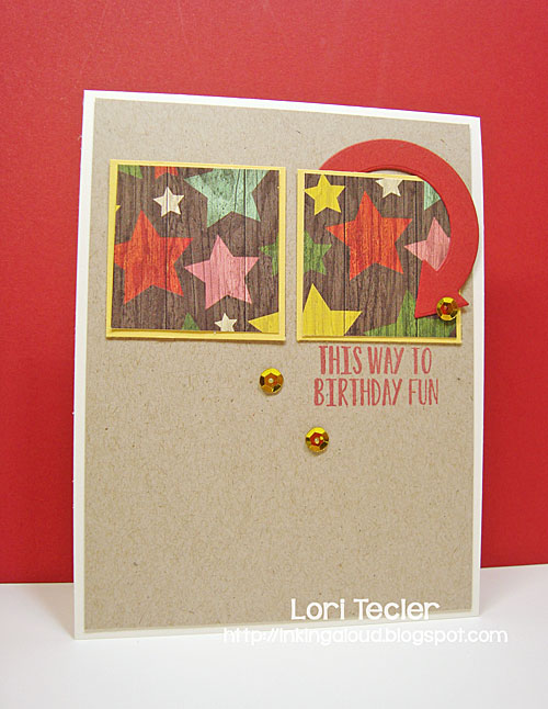 This Way to Birthday Fun card-designed by Lori Tecler/Inking Aloud-stamps and dies from Avery Elle