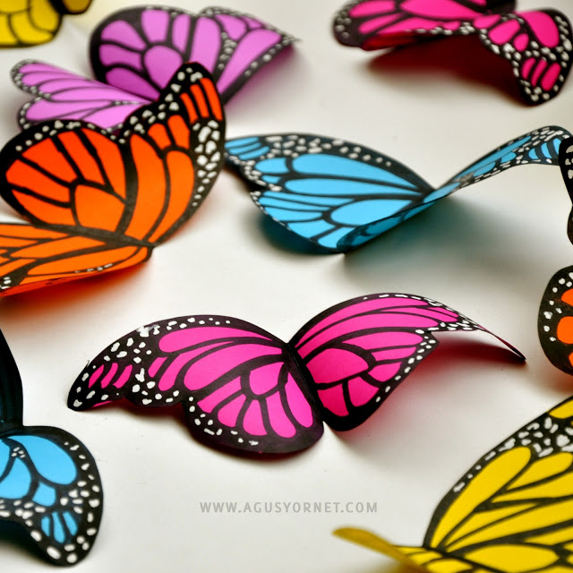 DIY butterflies you can make very easily, even with now art skills