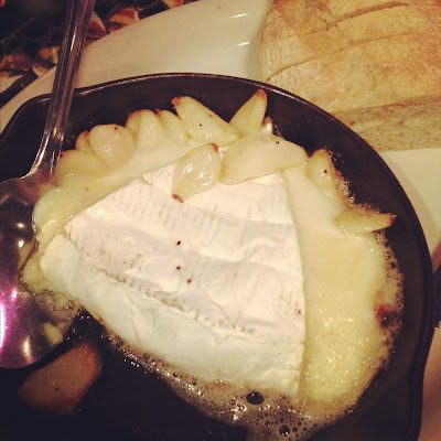 melted brie and roasted garlic