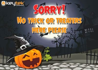 Sorry no trick or treat please Halloween poster