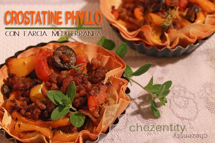 crostatine phyllo con farcia mediterranea