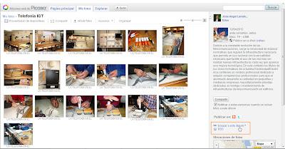 Se describe una ejemplificación de como publicar una presentación de Picasa en Blogger.