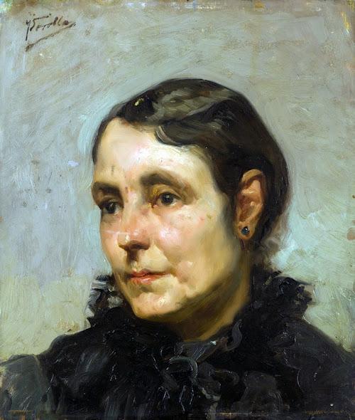 Joaquín Sorolla, retratos, pintor Valenciano, Retrato de dama