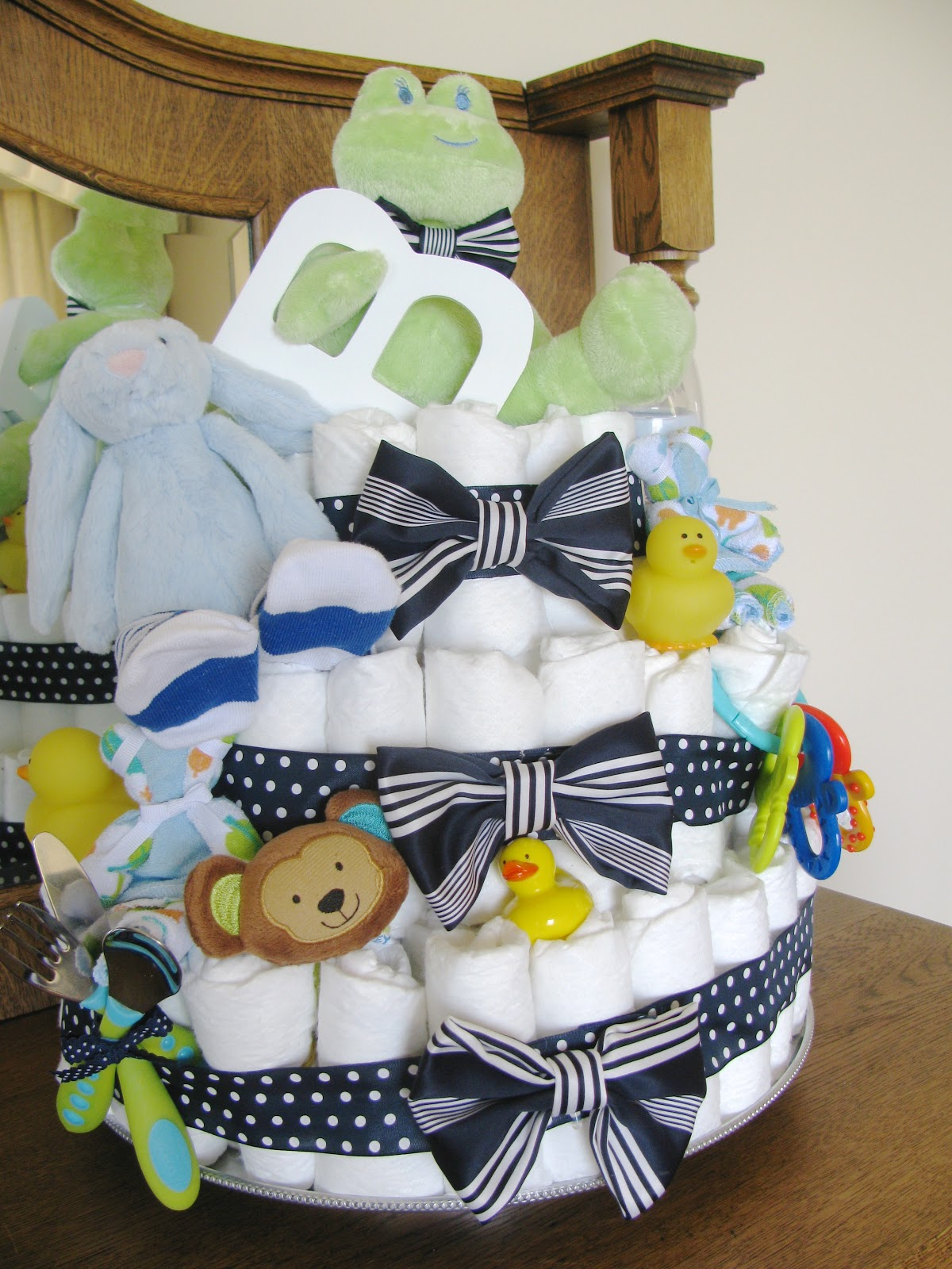 nice people STAMP Boy Baby Shower Lil Man Bow Tie Theme