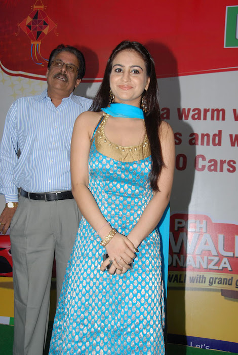 Aksha In Blue Churidar At Pch Bumper Draw Event Photo Gallery Actress