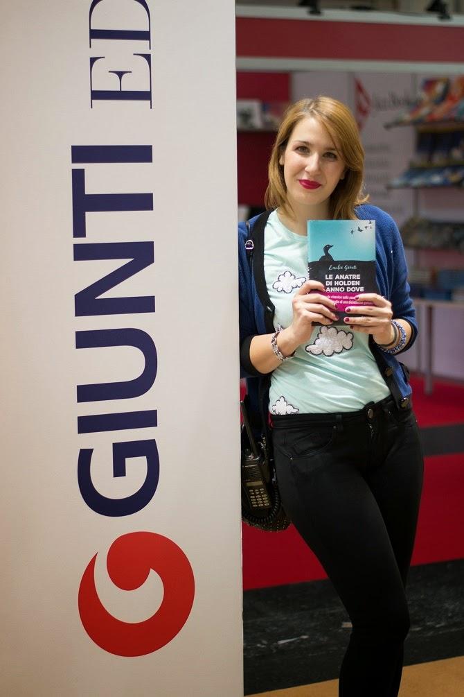 nuvole tshirt azzurro Emilia Garuti Holden Salinger #SalTo15 Giunti