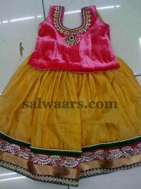 Mustard Skirt with Velvet Blouse