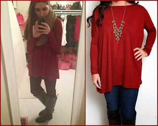 red piko top by flourish boutique