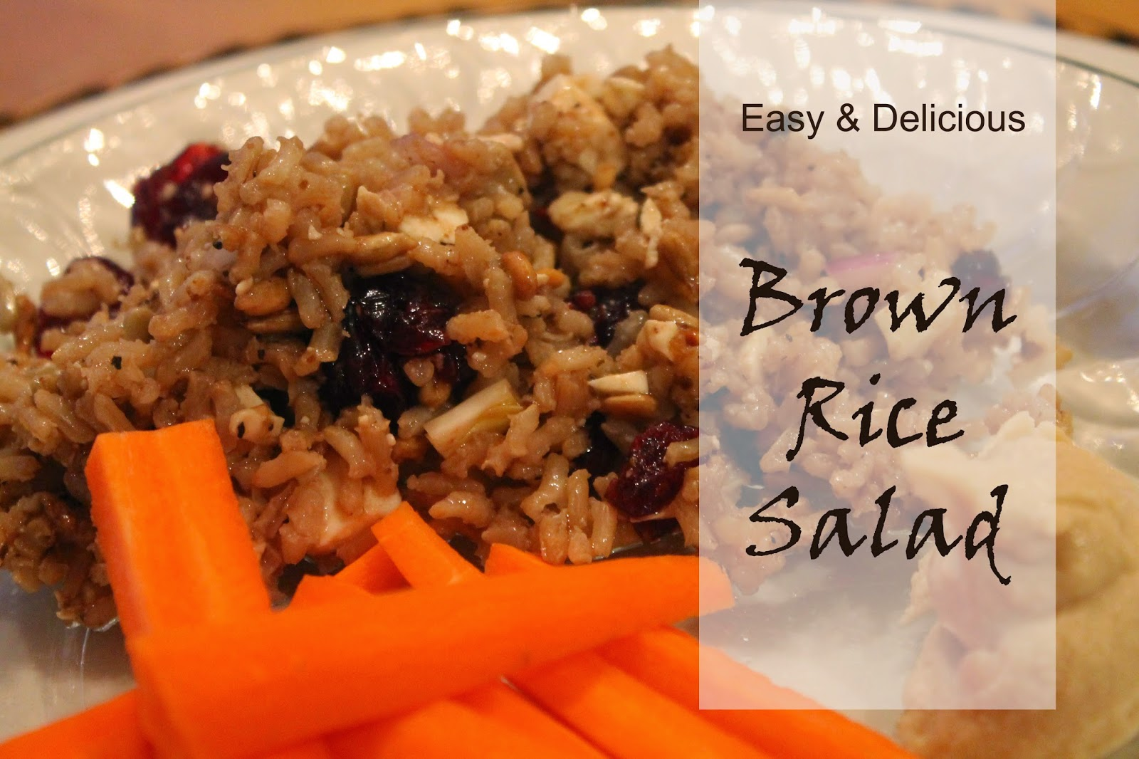 amazing brown rice salad recipe, healthy eating, the altered past blog