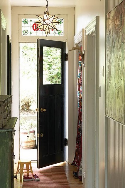 Foyer Door : Entryway black doors foyer classic timeless appeal