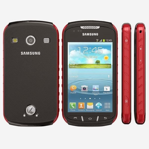 Smartphone Galaxy Samsung Xcover 2 S7710 Rouge Noir