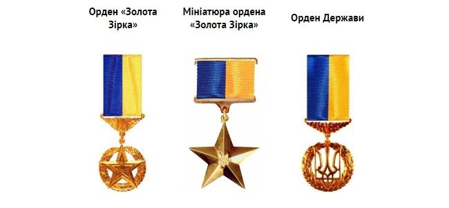 Ордени відзнаки Герой України