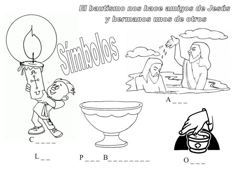 Dibujos de elementos que se utilizan en el bautismo - Imagui