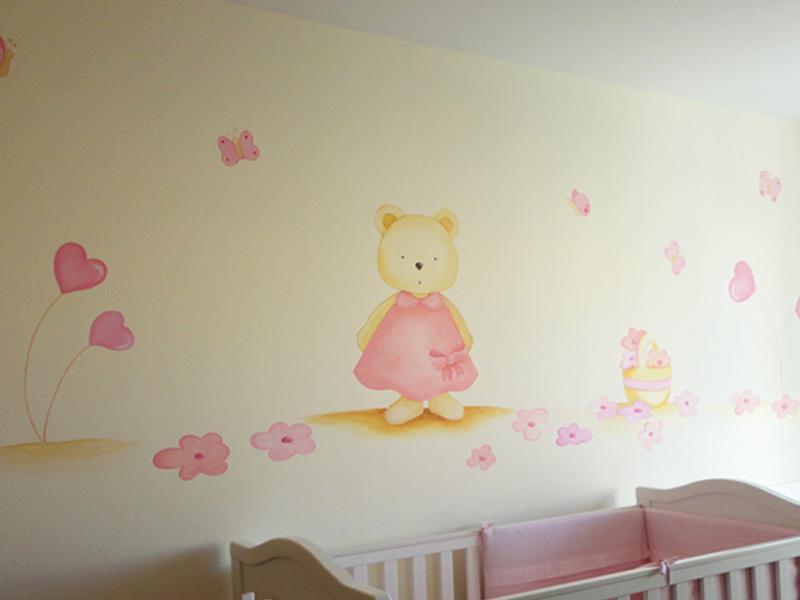 Murales en cuarto de ni s doble inspiraci n - Dibujos para decorar habitacion de bebe ...