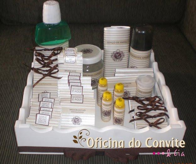 Kit Banheiro Casamento Luxo : Caixa toalete ideale convites car interior design