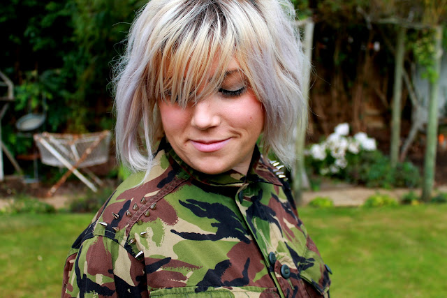 studded camouflage jacket DIY