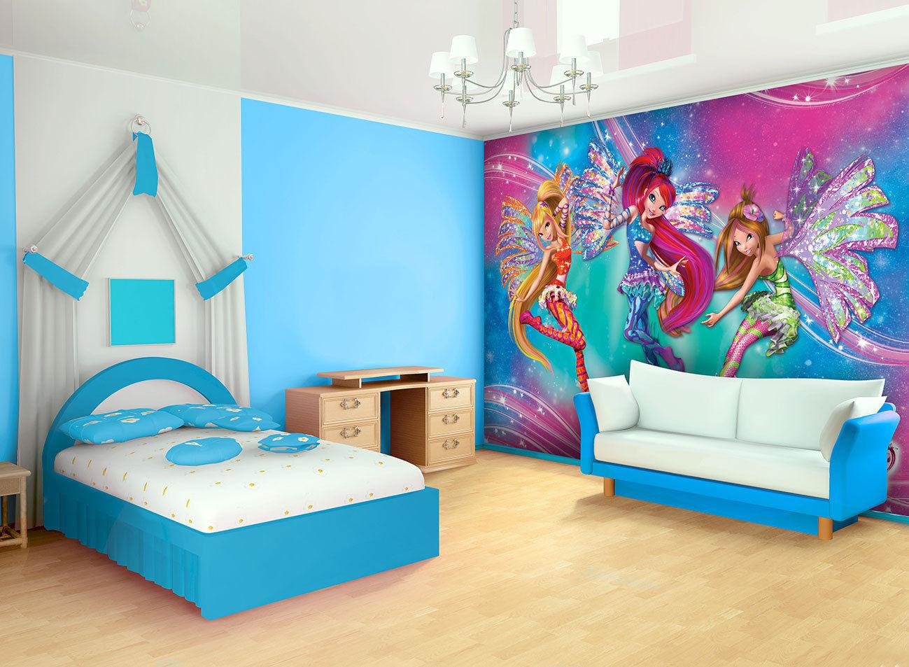 Nuevo papel para la pared winx club trendy y sirenix - Papel decorativo para pared ...