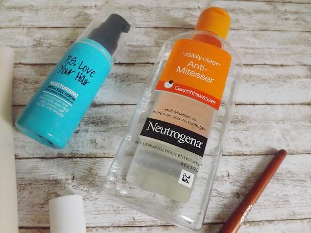 P.S. Love Your Hair - Moisturising Anti-Fizz Serum      Neutrogena - visibly clear Anti-Mitesser Gesichtswasser