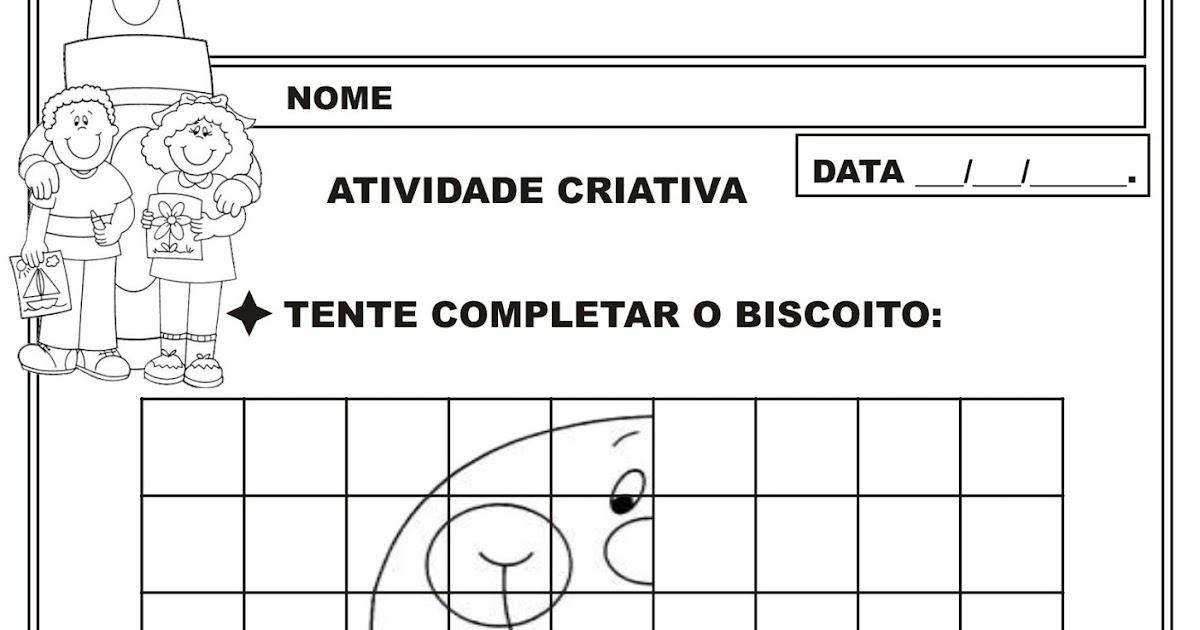 Top Atividade Simetria - Desenhando   Ideia Criativa - Gi Barbosa  FJ29