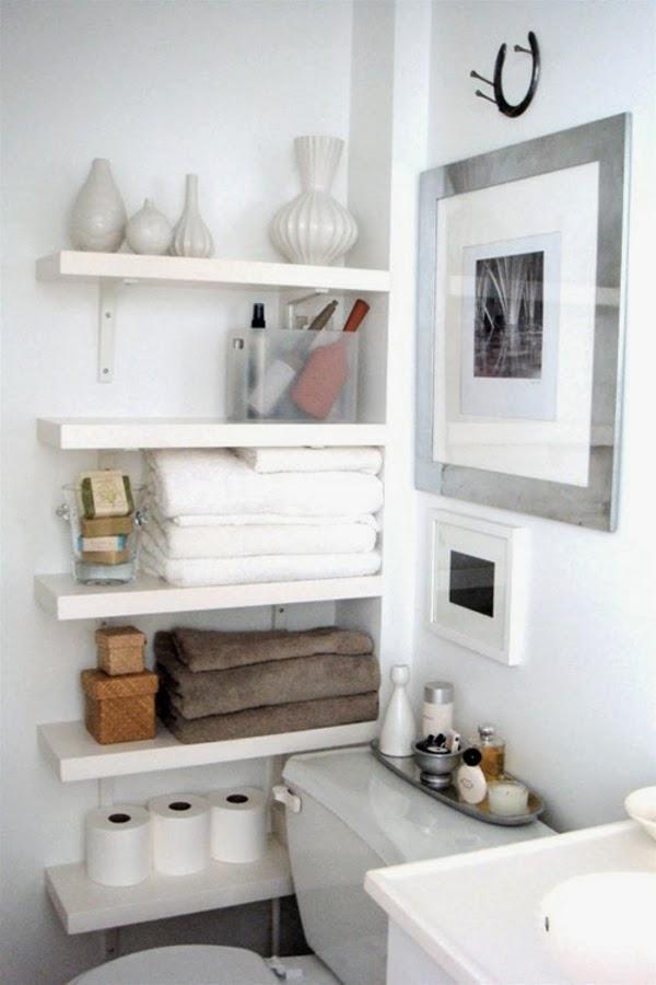 Badezimmer organisation deko papier