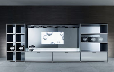 Homes idea Mueble de TV para Sala de estar por Rimadesio
