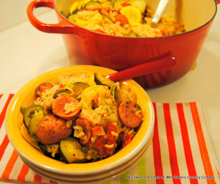 Sausage Veggie Rice Pot