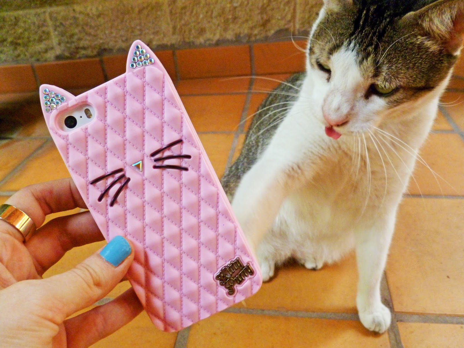 Love this super cute Kitty iPhone cover from the Katy Perry Collection of Claire's!