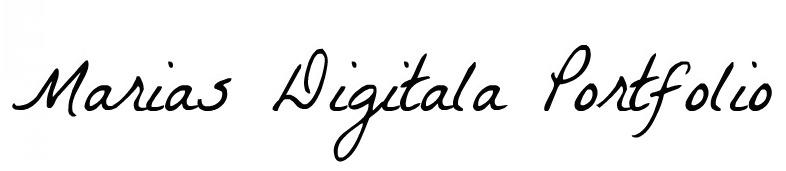 Marias digitala portfolio