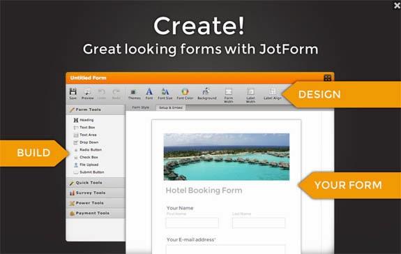 Blogger: Formulario de contacto en una página, JotForm