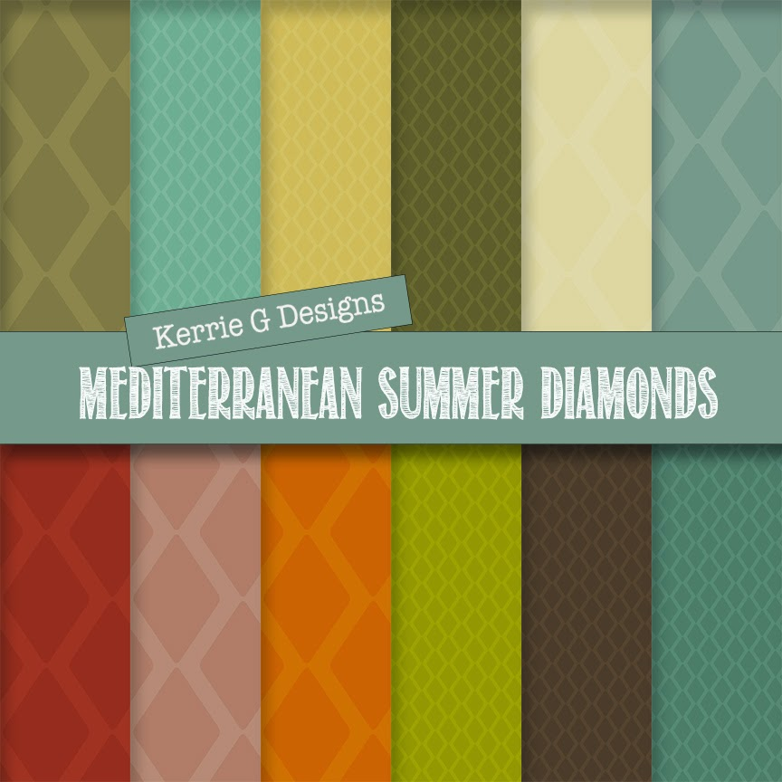 mediterranean summer diamonds digital paper pack freebie