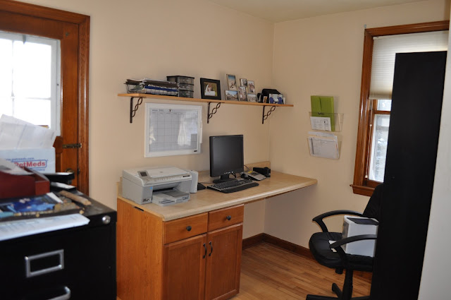 office, redo, paint, stain, polyurethane, DIY