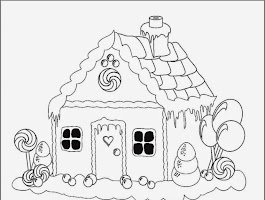 Holiday Gingerbread House Coloring Pages