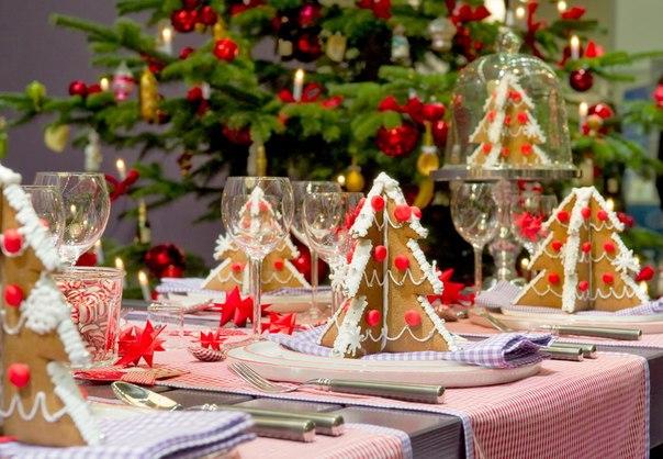 Christmas Dinner Table Home Decorating Ideas