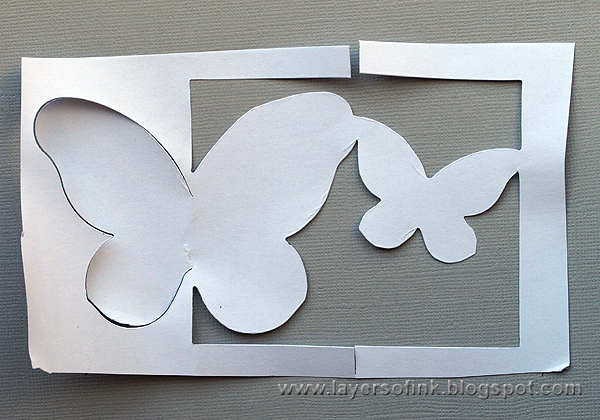how to make a die cut larger