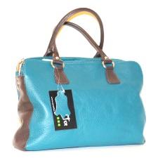 geanta albastra piele